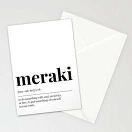 Meraki Stationery Cards