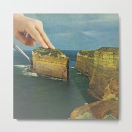 Serving up cake by the seaside - Cake slice Metal Print