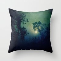 howl Throw Pillows featuring Howl by Slight Clutter