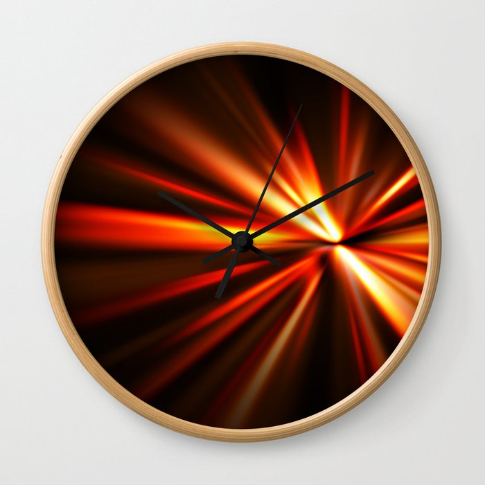 explosion of a star Wall Clock
