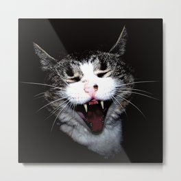 Vampire Kitty Metal Print