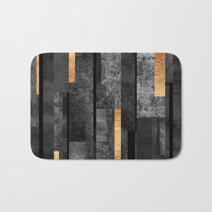 Urban Black & Gold Bath Mat