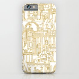 Ancient Greece gold white iPhone Case
