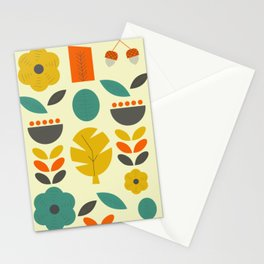 Retro autumn collection Stationery Cards