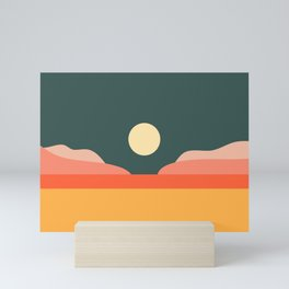 Geometric Landscape 14 Mini Art Print