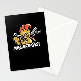 Pew Pew Madafakas Chicken Pistol Stationery Cards