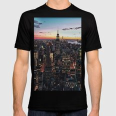 NY CITY Mens Fitted Tee SMALL Black