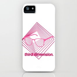 Third Dimension - Neon Laser Pink iPhone Case