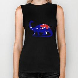 Australian Flag - Brontosaurus Biker Tank