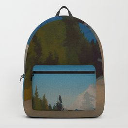 Rocky Mountains Canada Vintage Travel Poster Backpack