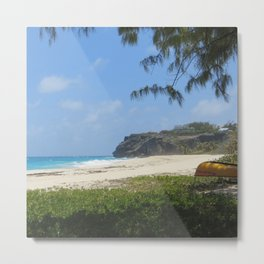 Barbados beach Metal Print