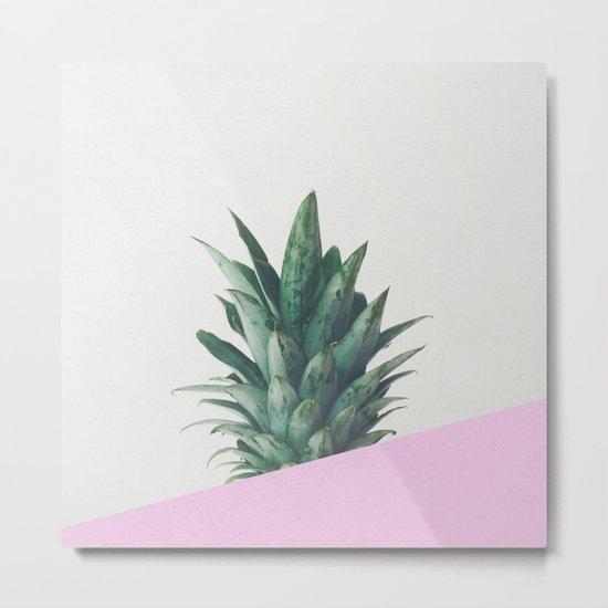 Pineapple Dip Metal Print