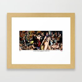 VLADRUSHKA - A Summer Night at the World Eaters Club: Print 1 Color Edition Framed Art Print