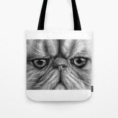Persian Cat B&W 831 Tote Bag