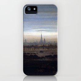 Caspar David Friedrich Greifswald in Moonlight iPhone Case