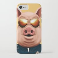 pigs iPhone & iPod Cases featuring PIGS by Brandon Juarez