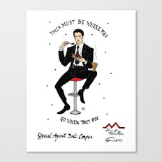 Special Agent Dale Cooper ~ RR Diner Canvas Print
