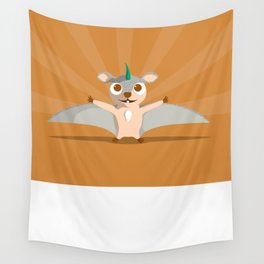 The Dino-zoo: Flying squirrel-saurus Wall Tapestry