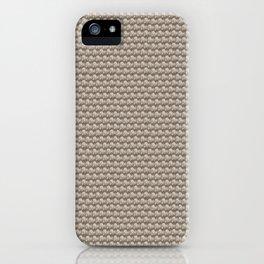 Neutral knit pattern iPhone Case