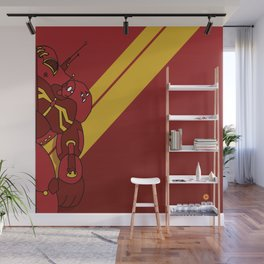 Red Robot Wall Mural