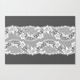 White Lace Ribbon. Canvas Print