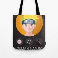 naruto Tote Bags featuring naruto by pixel.pwn | AK
