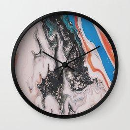 Azure Oil Spill Wall Clock