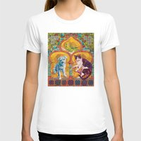golden girls T-shirts featuring Golden Temple of the Good Girls by Susan Carlson