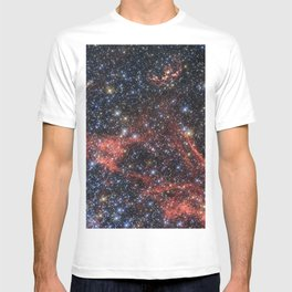 Death of a Star - Red Wispy Remains of Giant Supernova T-shirt