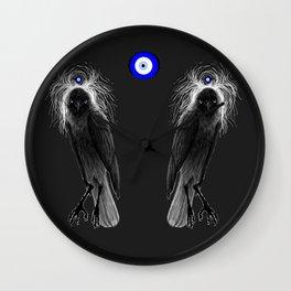 Evil Eye Jackdaw Wall Clock