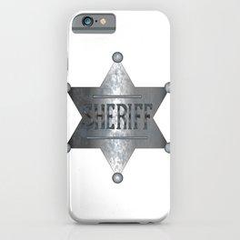 Sheriff Badge iPhone Case