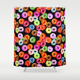 Multicolored Yummy Donuts Shower Curtain