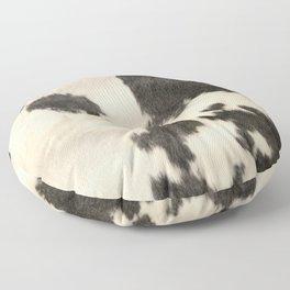 Black & White Cow Hide Floor Pillow