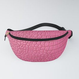 Pink leather texture Fanny Pack