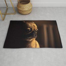 Cute Pug Dog Rug