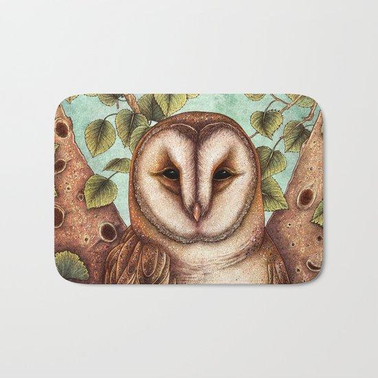 Spring Barn Owl Bath Mat
