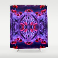 poppies Shower Curtains featuring poppies by haroulita