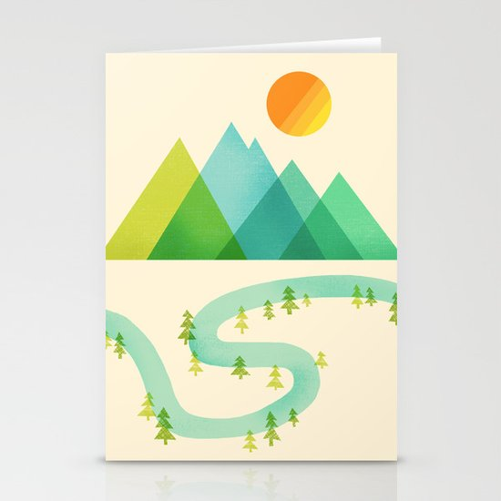 Bend in the River Stationery Cards