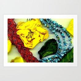 Petals and Necklace  Art Print