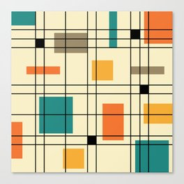 1950's Abstract Art Canvas Print