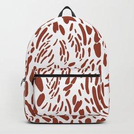 Orange brown abstract modern brushstrokes pattern Backpack