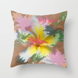 Flowers 9 DF Throw Pillow