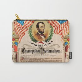 1863 Emancipation Proclamation by President Abraham Lincoln Carry-All Pouch