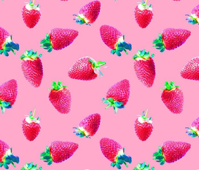 Pink Strawberry Pop Metal Travel Mug