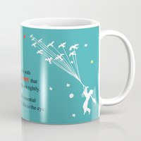 le petit prince Mugs featuring LITTLE PRINCE -Le petit prince- art poster by Chara Anagnostopoulou