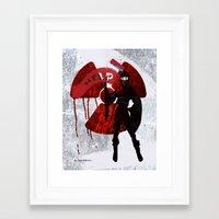 ninja Framed Art Prints featuring Ninja by Elisabeth Acerbi