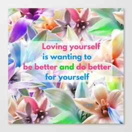 Be Better for yourself Canvas Print