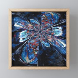 Midnight blue abstract Framed Mini Art Print