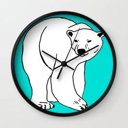 The Breathtaking Polar Bear Wall Clock