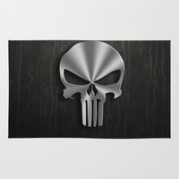 punisher Area & Throw Rugs featuring The Punisher by Andrian Kembara